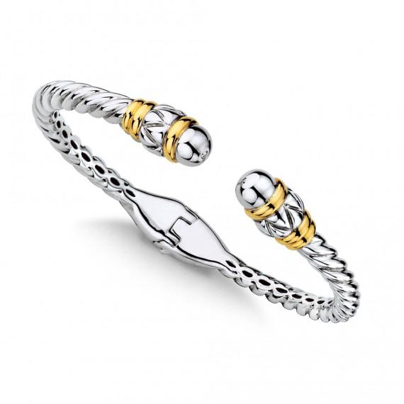 Sterling Silver and 18K Gold Bracelet