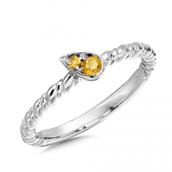 Citrine Ring in Sterling Silver