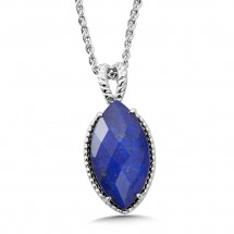 Sterling Silver Lapis Fusion Pendant