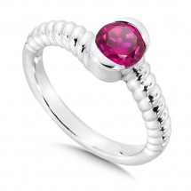 Created Ruby Colore Of Life Stack Ring