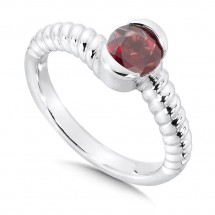 Garnet Colore Of Life Stack Ring
