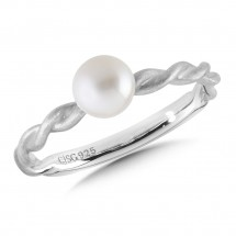 Sterling Silver Pearl Stacking Ring