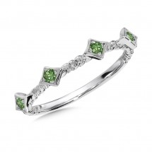 Tsavorite Ring in Sterling Silver