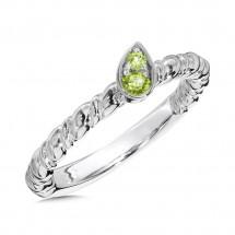 Peridot Ring in Sterling Silver