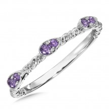 Amethyst Ring in Sterling Silver