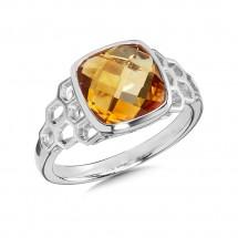 Citrine Ring in Sterling Silver